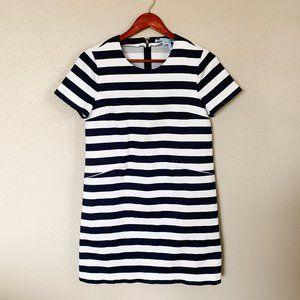 Draper James Blue & White Short Sleeve Dress